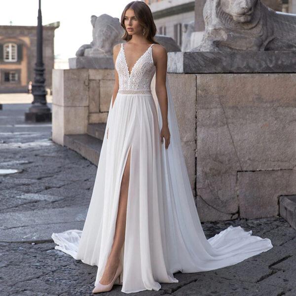 Robe de Mariée Bohème Romantique Ambre