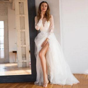 Robe de Mariée Bohème Romantique Nina