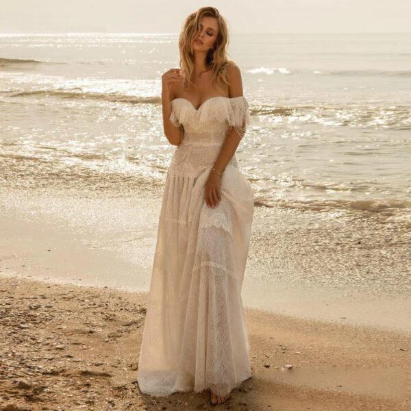 Robe de Mariée Bohème Chic Rose