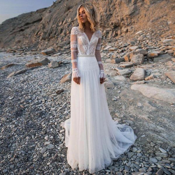 Robe de Mariée Vintage Bohème Salomé
